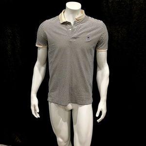 Psycho Bunny Mens White Striped Polo Shirt